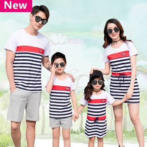 BALABALA Family Matching Outfits Father and Son Summer Sleeveless Cotton Cloth Sets Teenage Letter Print World Cup Style(China)