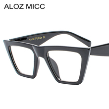 ALOZ MICC Fashion Women Cat eye Eyeglasses Frame Personality Big Clear Lens Glasses Female 2018 Trend Q483