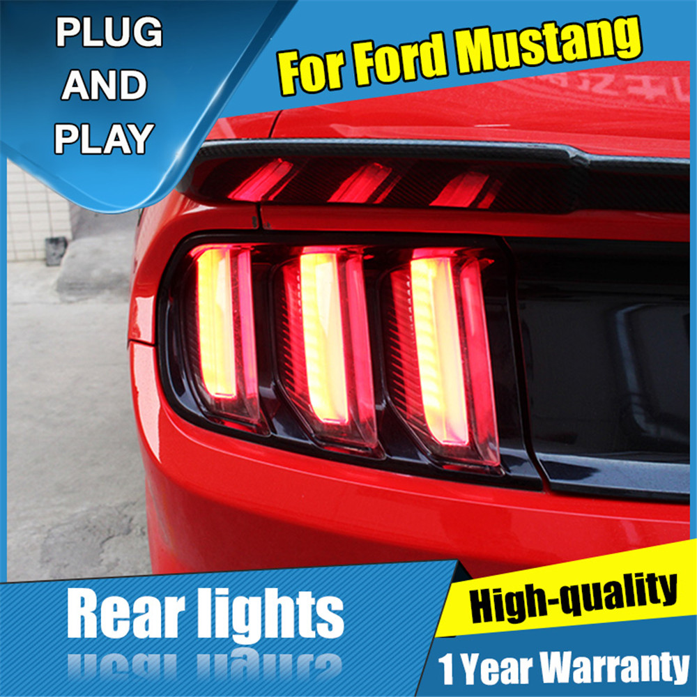 Car Styling LED Tail Lamp for Ford Mustang Tail Lights 2015 2019 Rear Light DRL Turn
