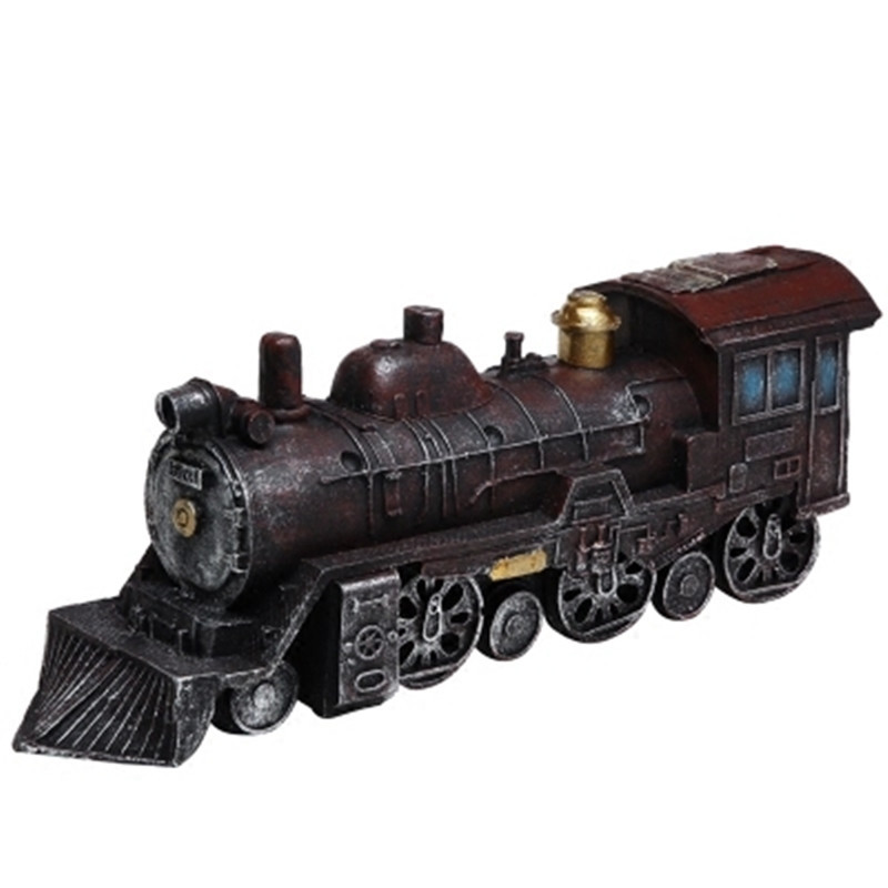 TRAIN ENGINE BIRD HOUSE DECORATION OUTDOOR RESIN MATERIAL BRAND NEW WITH TAG