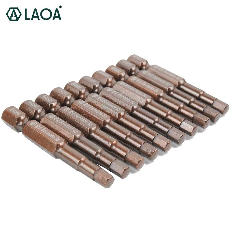 LAOA 7/10 pièces S2 60HRC embouts de tournevis hexagonaux ensemble de tournevis électriques hexagonaux avec magnétisme 50mm