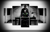 5 Panels joker and batman the dark knight rises Poster Wall Art Picture for Living Room Home Decor (NO Framed)