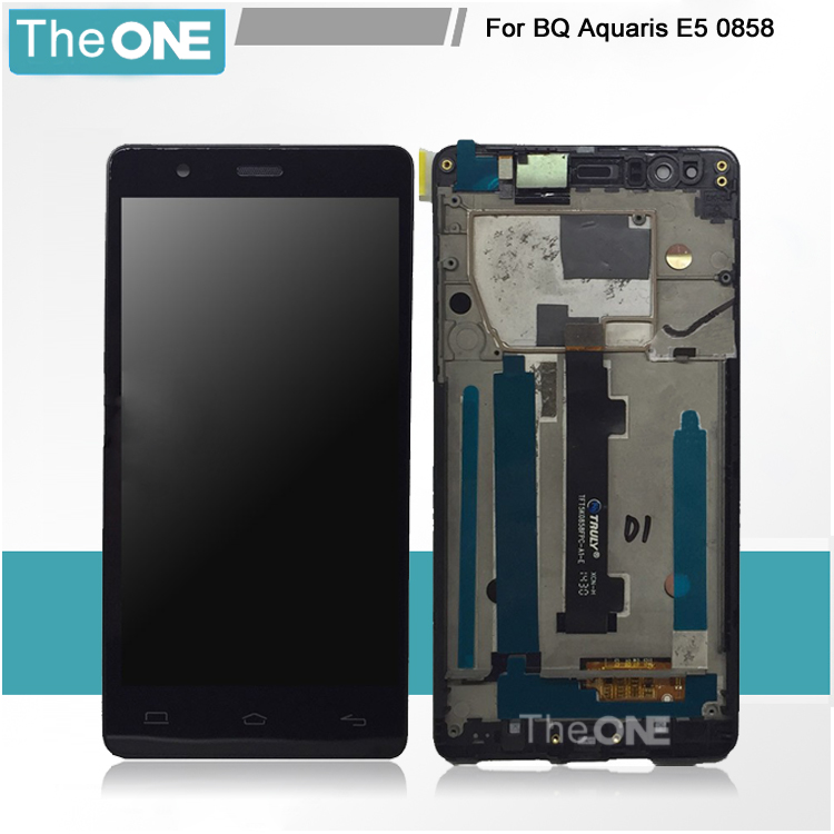 Pantalla LCD+Tactil Touch Screen Digitizer For BQ Aquaris E5 lcd Display with frame 5K0858 Free Shipping lcd screen assembly for apple iphone 4 4g lcd display touch screen digitizer pantalla with frame bezel replacement black white