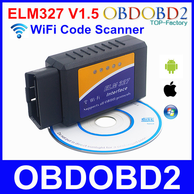 10Pcs WiFi ELM327 V1.5 ELM 327 OBDII Scan Tool Diagnose For Multi Brand Cars Support IOS Android Windows For All OBD2 Protocols