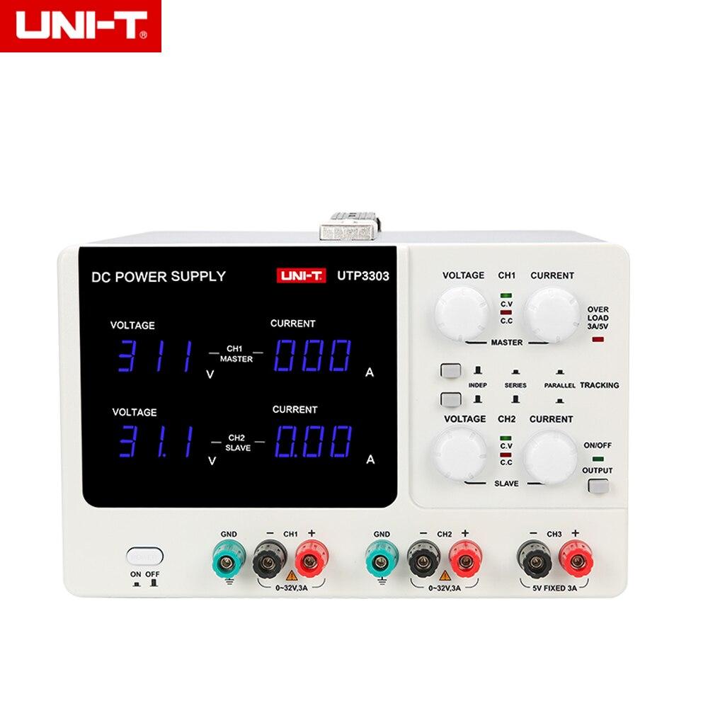UNI-T UTP3303 Dual-Channel Three-Way Adjustable DC Power Supply 32V 3A dc power supply uni trend utp3704 i ii iii lines 0 32v dc power supply