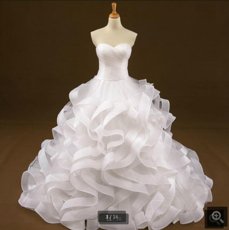 Ball gown ruffled 2016 pleated real picture wedding dress court train sweetheart neck corset pregnant wedding gowns hot sale