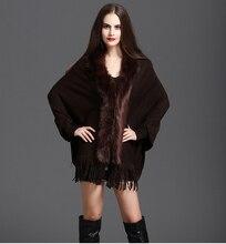NiceMix 2019 big long vogue sexy leopard fur coat cloak shawl cashmere faux cardigan jacket parka women spring winter autumn