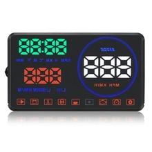 GEYIREN M9 HUD 5.5 дюймов Автомобиля Head Up Display Ветрового Стекла проектор OBD2 EUOBD Вождение Автомобиля Отображения Данных Скорость ОБ/МИН Топлива потребление