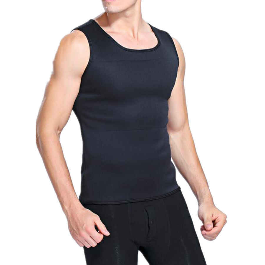 9c5f25a1b3 ... Men s Neoprene Slimming Vest Hot Shapers Body T shirt Sauna Sweat  Thermal Waist Trainer Tank Top ...