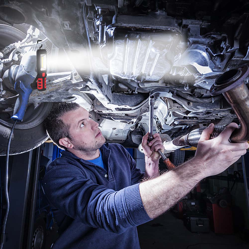Usb Cob Led Magnetic Work Light Car Garage Mechanic Home