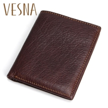Men Wallets 100% Genuine Leather Wallet Fashion Design Brand Casual Style Multifunction Male Card Holder