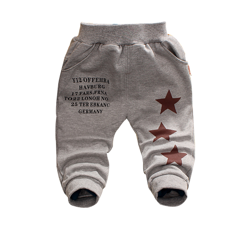 Free Shipping 2019 New Spring&Autumn Baby Pants 1 Piece Cotton Five-pointed Star Pattern Kids Pants 0-3 Years Baby Boys Pants
