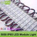 100 pçs/lote DC12V 5050 LEDs 3 Módulo CONDUZIDO 5050 RGB módulo de luz LED RGB IP65 À Prova D' Água Frete Grátis