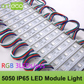 100pcs/lot DC12V 5050 3LEDs LED Module 5050 RGB LED module light RGB IP65 Waterproof Free Shipping