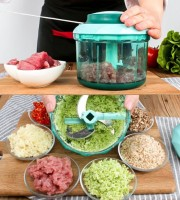 Multifunctional Manual Meat Grinder Kitchen Home Cooking Stir Vegetable Stuffing Dumpling Egg Meat Poultry Tools KT03