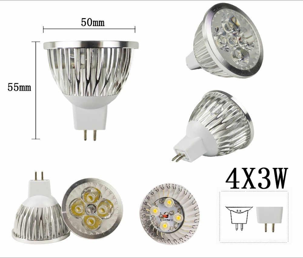 Nouveau haute puissance Lampada Led MR16 GU10 COB 9 w 12 w 15 w pas Dimmable Led Cob spot chaud blanc froid MR16 12 V ampoule lampe GU 10 220 V