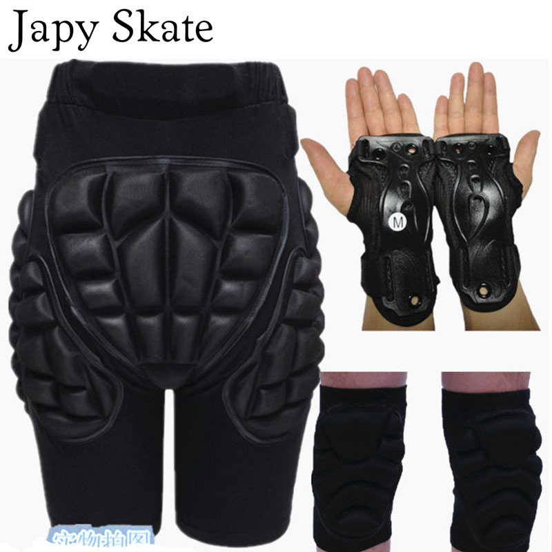 Japy Skate Kid Adult Outdoor Sports Protective Skiing Hip Pad Knee Pads Wrist Support Palm Skiing Skating Snowboard Protection