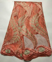 Nigerian Tulle Lace Fabrics Hgh Quality African French Lace Fabric With Stones Embroidered African Tulle Lace Fabric
