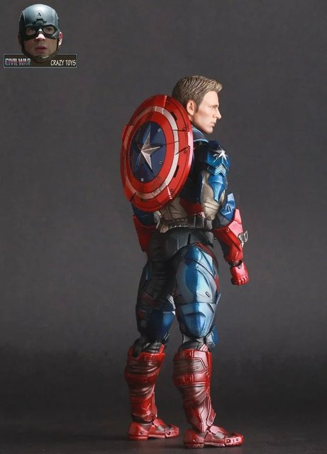 17cm Captain America Civil War Avengers Super hero PVC Action Figure