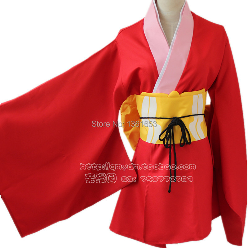 Anime gintama cosplay Kagura cosplay costume hot sell Kimono for girls women halloween costumes cos party clothes