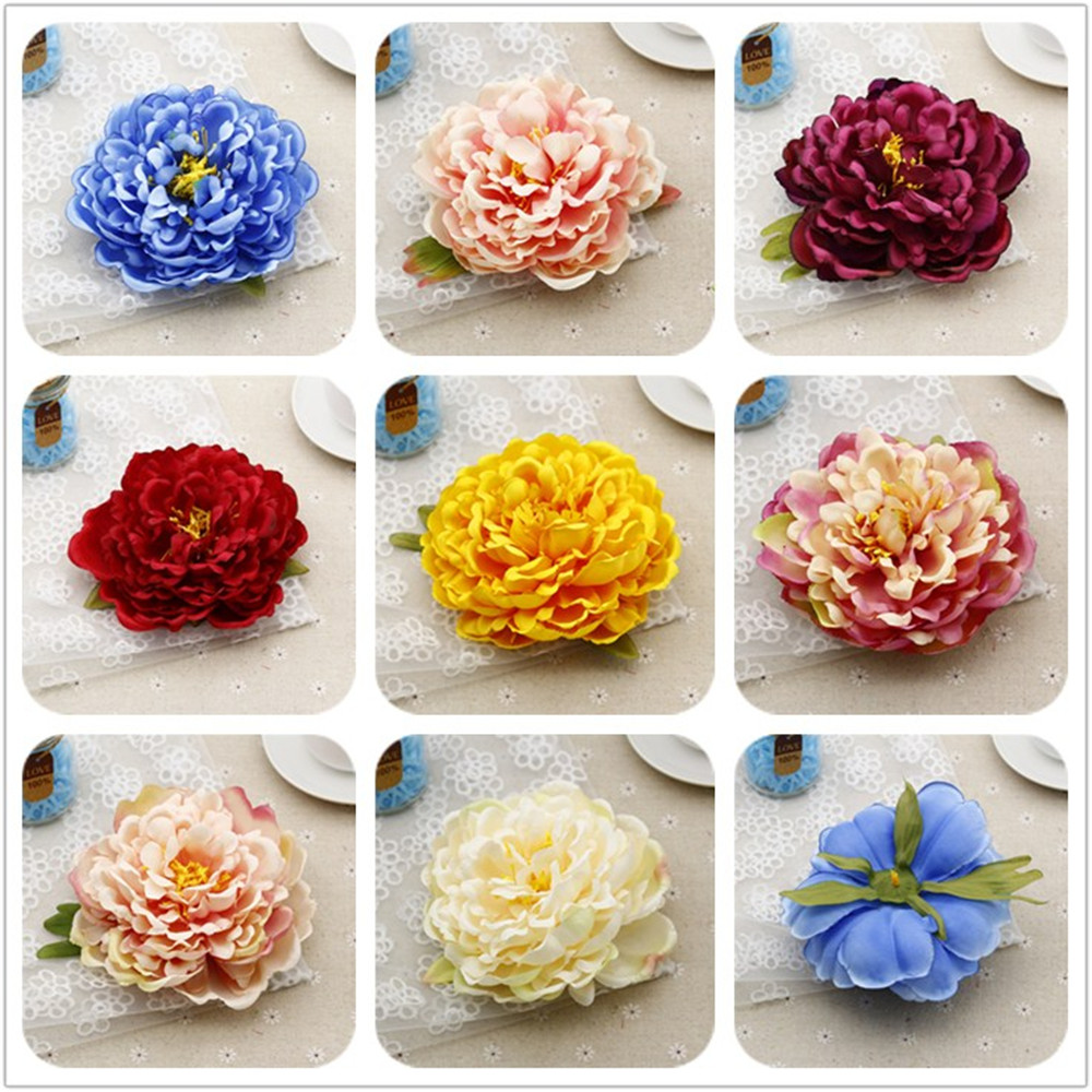 15cm Artificial Decorative Peony Heads Simulation Diy Silk Flower Peonia Electroplating Transparent Ultrathin Xiaomi Redmi Note 5 Pro Ai Head For Wedding Home Party Decoration High Quality Flowers