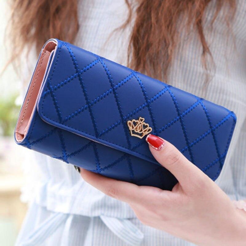 Fashion Women 39 s Purses Women Wallet Female Coin Clutch Long Wallets Women Luxury Brand Ladies Zipper Card Holder Passport Purse in Wallets from Luggage amp Bags