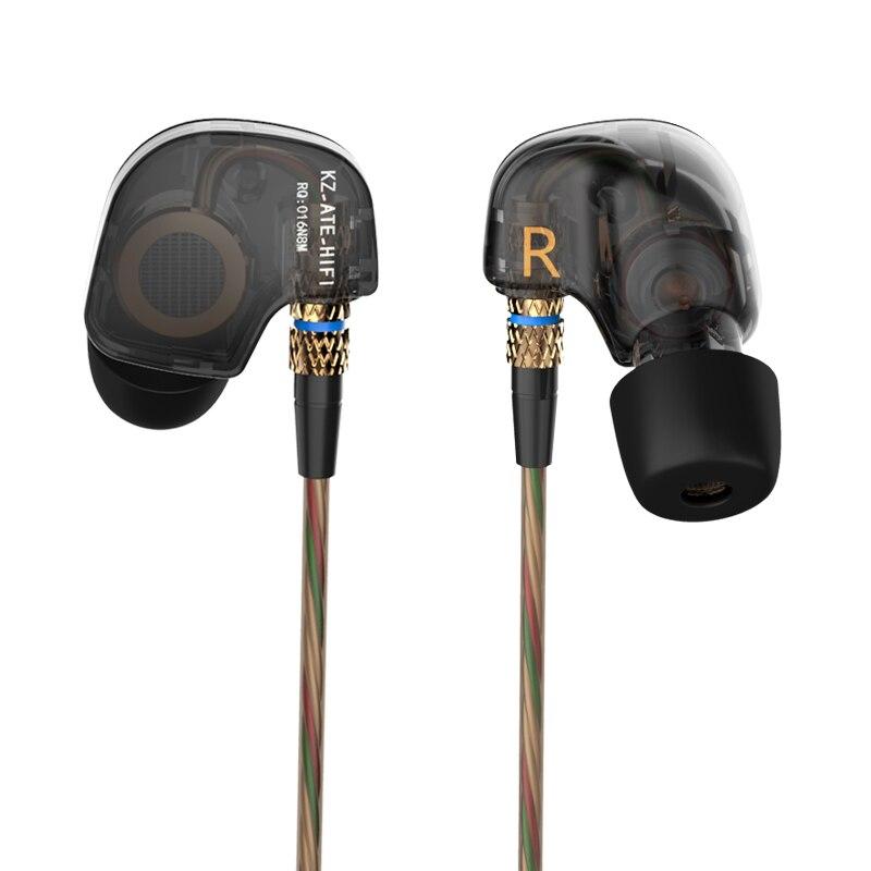D'origine KZ MANGÉ 3.5mm Dans L'oreille Écouteurs Sport de Course HIFI Écouteurs Super Bass Bruit Annulation Écouteurs De Cuivre Conducteur