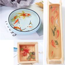 Simulation Fish Leaves Duckweed Stickers Resin Goldfish Painting DIY Crafts(China)