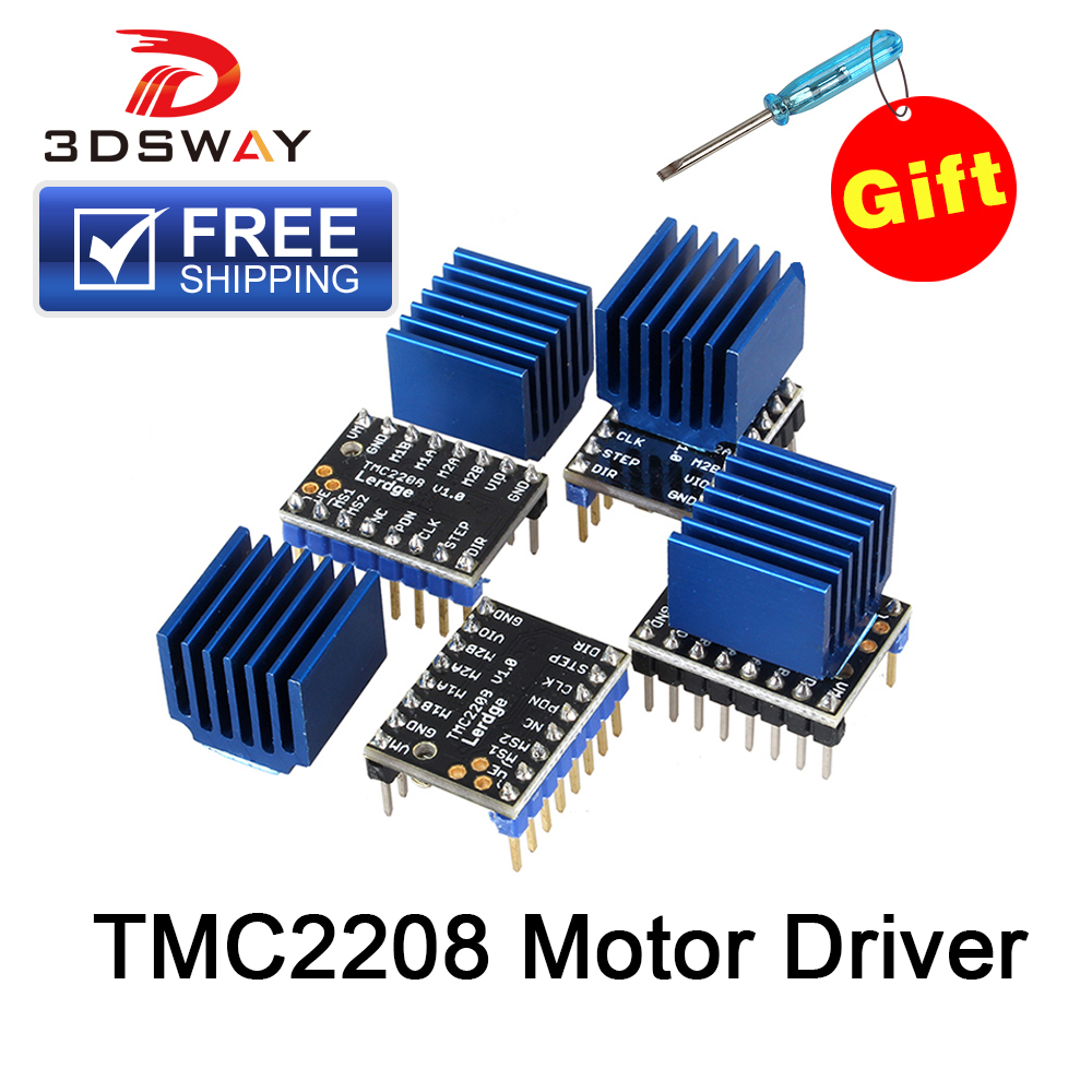 Free Shipping 3DSWAY 3D Printer Part 4pcs/lot Lerdge TMC2208 Stepper Motor Driver Stepstick Ultra-quiet Replace TMC2100 Heatsink ...