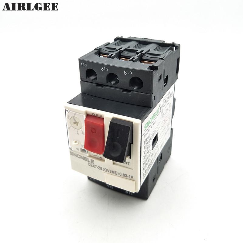 GV2ME 0.63-1A 3P Motor Starter Circuit Breaker Overload Protector MPCB 690V 6KV 3ve4 motor protection circuit breaker 3p 1 63amps