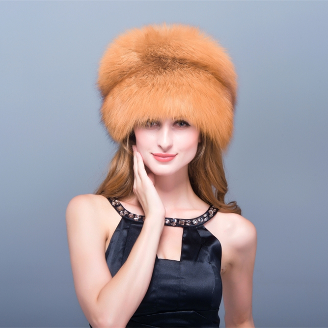 HM008 Winter hats for women Real genuine fox fur hat women's winter hats whole piece raccoon fur hats hm039 real genuine mink hat winter russian men s warm caps whole piece mink fur hats