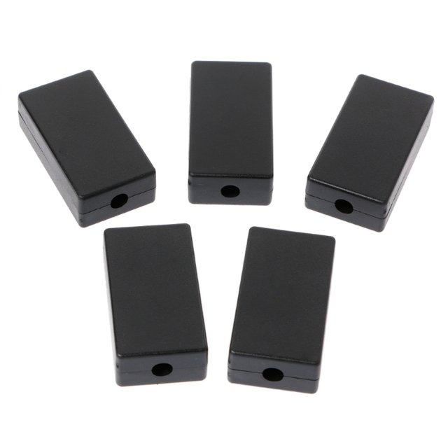 5 Pcs/lot Black DIY Electric Plastic Black Waterproof Case Project Junction Box 48*26*15mm