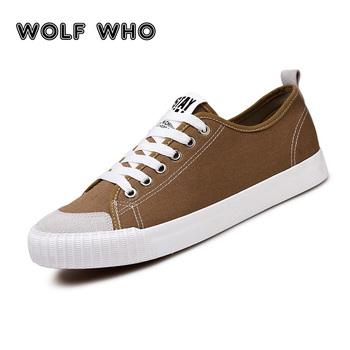 WOLF WHO 2018 Fashion Brown sneakers Men Causal Shoes Male Lace Up Espadrilles Man Breathable Korean Plimsolls buty meskie X-064