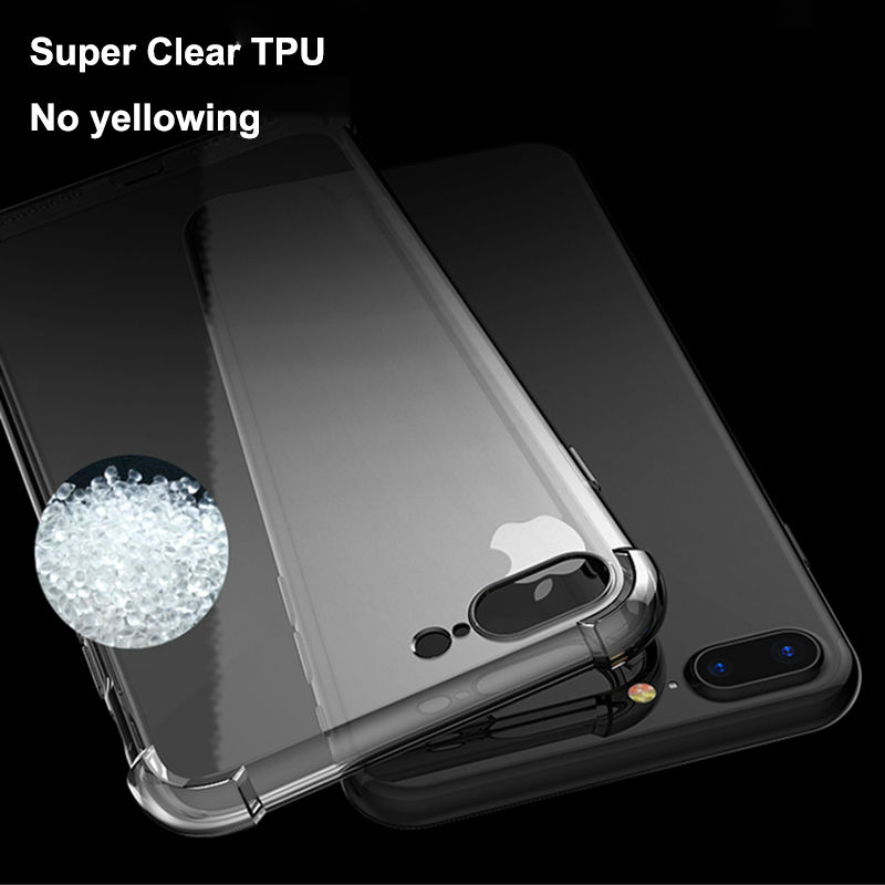 HD Clear TPU Funda para iPhone 7 8 Plus para iPhone 8 7 Fundas 360 - Accesorios y repuestos para celulares - foto 5
