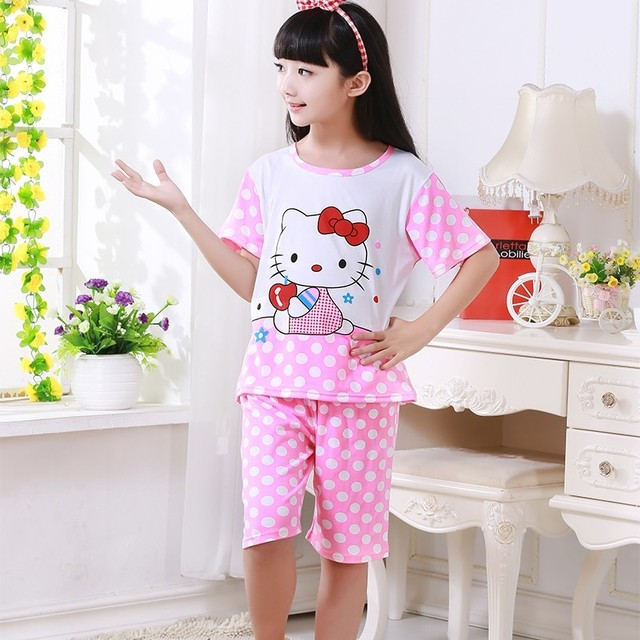 a0b1ca7813 Hot Sale Children Clothing Summer nightwear Boys Girls Baby Pajamas Cotton  Princess Nightgown Kids Home Cltohing