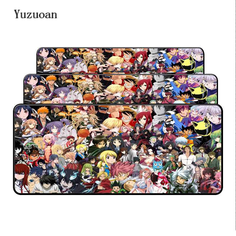 Yuzuoan Overlock Japanese All Anime Mouse Pad Large Pad to Mouse Notbook Computer Mousepad Gaming Mouse Mats For CSGO DOTA2