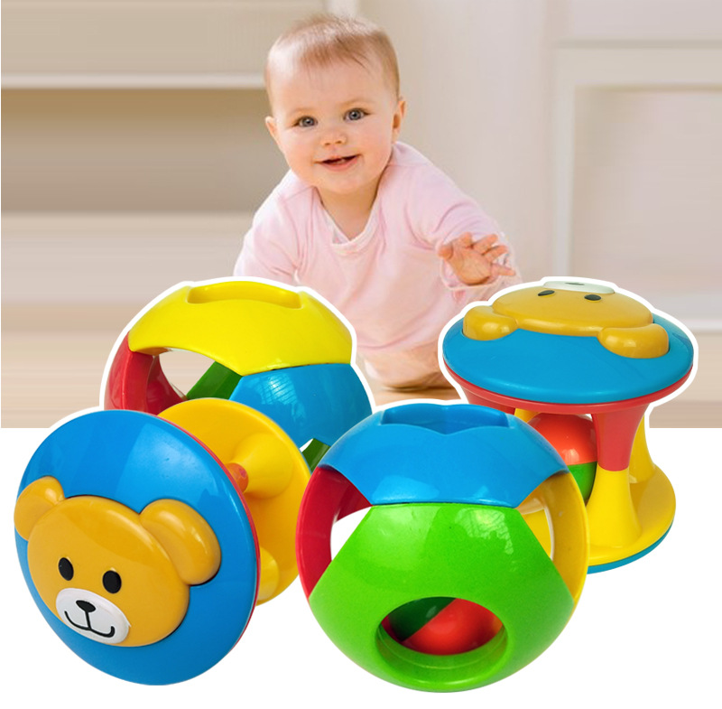 Kids Baby Animal Handbells Musical Training Grip Toy Bed Bells Rattle Toys Fun
