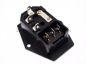 Image 2 - 3 in 1 tuimelschakelaar met licht Blauw, AC 01A zekering stopcontact Plug 3 Pin 15A 250 V met Zekering Blok + 10A Zekering