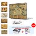Antiguo mapa del mundo caso mate para apple macbook air 13 caso aire 11 Pro 13 Retina 12 13 15 Bolsa de Ordenador Portátil Para Mac Pro cubierta