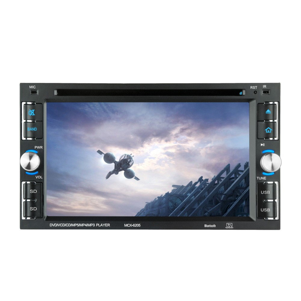 """6205  Car DVD player 6.2"""" Car Autoradio Video/Multimedia MP5 Player mp4 Car Stereo audio player car dvd BT FM-in Car CD Player from Automobiles & Motorcycles"""