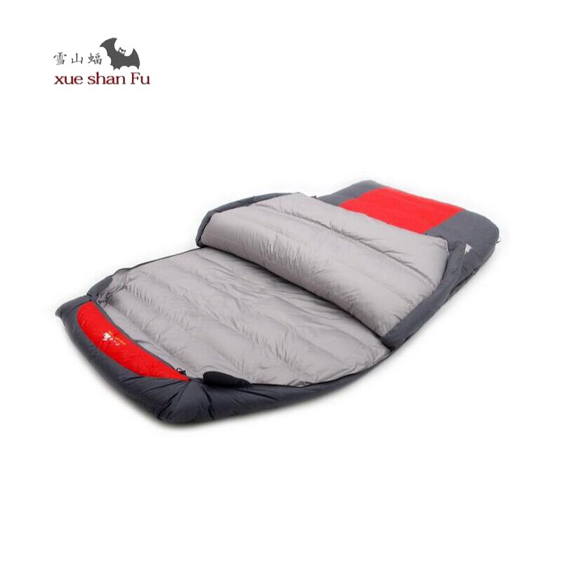 Adult Sleeping bag winter Fill 2500g 3000g 3500g 4000g Duck down Double Sleeping Bag for outdoor recreation travel camping