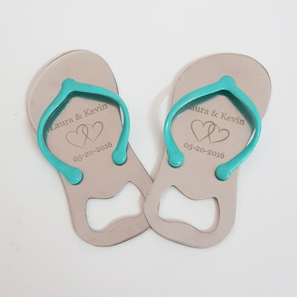 Personalized Wedding Gift for Guest Flip Flop Slipper Shaped Beer ...