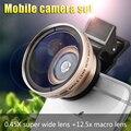 Широкоугольный объектив 12.5X макрообъектив для iphone6s iphone7 камеры мобильного ЗЕРКАЛЬНЫЕ effect easy to shoot большой макро объектив 37 ММ