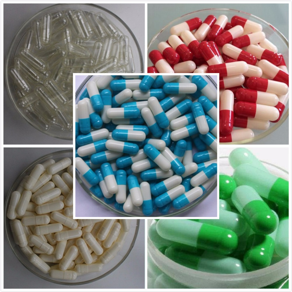 Free shipping 10 colors 10000pcs 0# gelatin empty capsules, hollow gelatin capsules цена