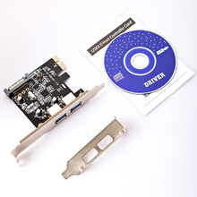 USB 3.0 expansion card External 2 port PCI-E PCI Express 15-pin SATA power connector