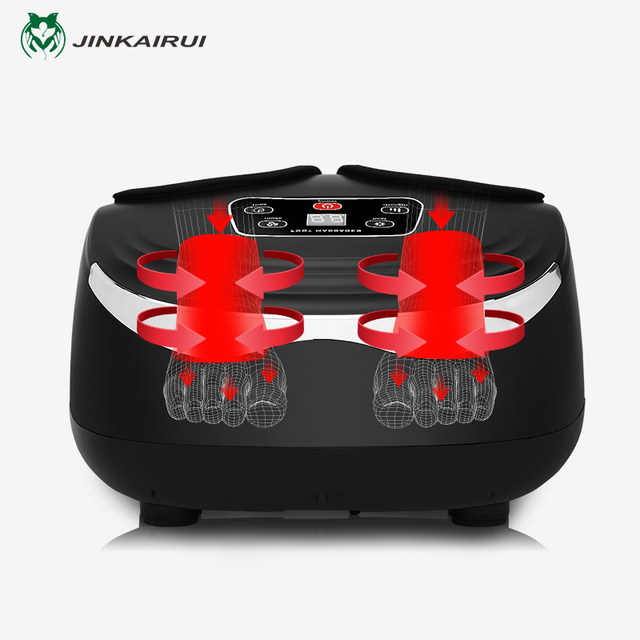 Jinkairui EU Plug Electric Antistress Foot Massager Vibrator Massage Machine Infrared Heating Therapy Health Care Device 2