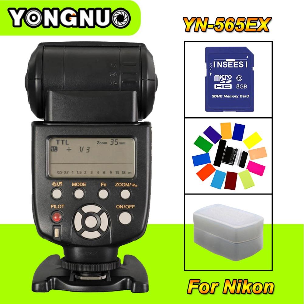 Yongnuo YN-565EX YN565EX Wireless TTL HSS Flash Speedlite light For Nikon D7100 D90 D3100 D5100 D5300 D7000 D7200 DSLR Cameras yongnuo yn565ex wireless ttl speedlite flash yn 565ex n for nikon d7100 d5200 d5100 d3000 d3100 d90 d80 dslr camera speedlight