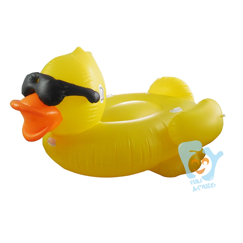 220cm 87inch Giant Inflatable Yellow Duck With Glasses Pool Floats Swimming Float Mattress Inflatable Ride-on Toy Boia Piscina