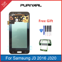 AAA AMOLED For Samsung Galaxy J3 2016 J320 J320F LCD Display Touch Screen Digitizer Assembly Replacement Adjustable Brightness