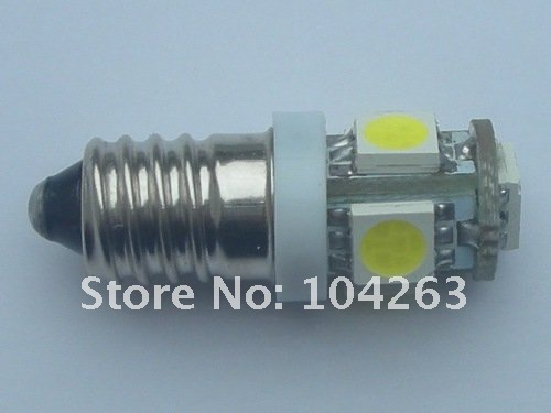 Wholesale Free Shipping <font><b>E10</b></font> T10 5 SMD 5050 <font><b>LED</b></font> Light ,DC12v or DC24V 5SMD 24V